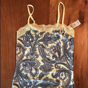 New- Ann Taylor lace Camisole , Paisley Print